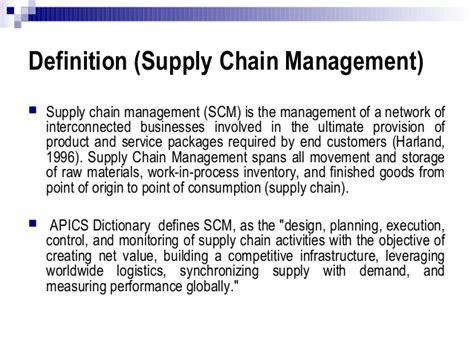supply chain management description cut costs using modern supply chain management practices