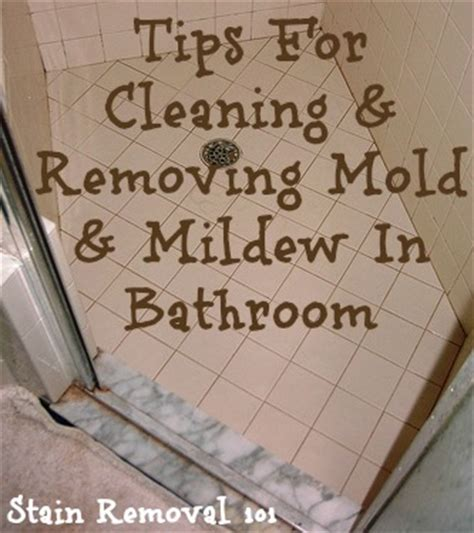 cleaning and removing mold mildew in bathroom