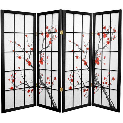 cherry blossom room divider 4 ft cherry blossom shoji screen roomdividers