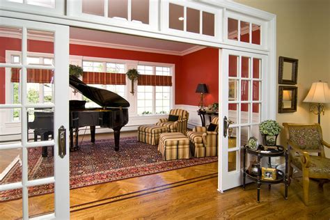 Kitchen Living Room Divider Ideas by Interior Sliding French Doors Hall Traditional With Barn