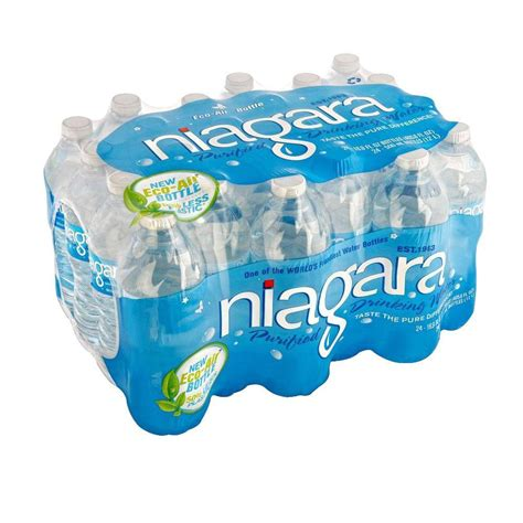 Home Depot Holiday Decor by Niagara 16 9 Fl Oz Purified Drinking Water 24 Pack