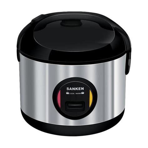 Harga Sanken Rice Cooker Stainless jual sanken sj 3030bk stainless steel rice cooker black