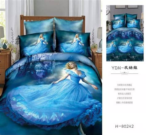 3d Cinderella Bedding Set 3pcs 4pcs King Queen Full Twin Cinderella Bedding Set