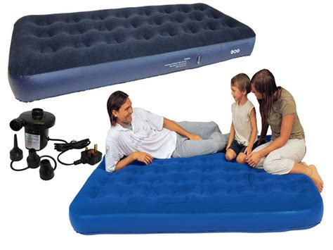 single flocked air bed cing relax airbed mattress w ebay