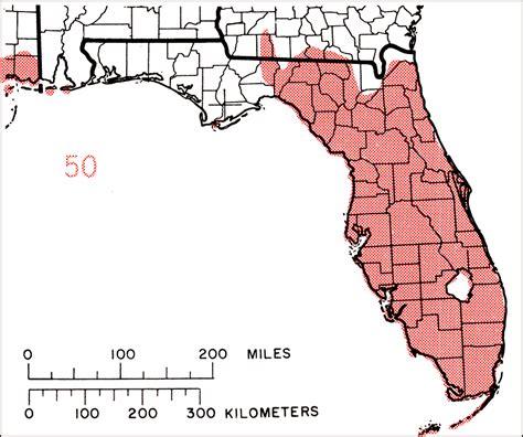 map of southeastern florida erythrina herbacea or southeastern coralbean 1978