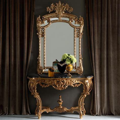 console table and mirror gold rococo console table and mirror set juliettes interiors
