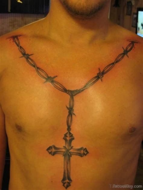 chest cross tattoo 50 best rosary tattoos on chest