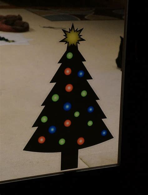 christmas tree static cling christmas window decals removable