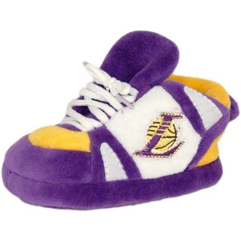 lakers house shoes los angeles lakers baby slipper in purple white yellow