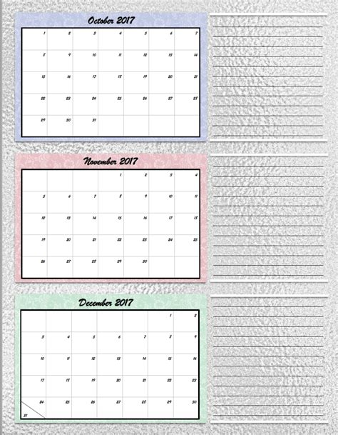 printable calendar first quarter 2016 free printable 2017 quarterly calendars 2 different designs