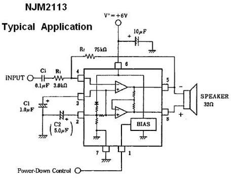 njmd  voltage audio amplifier ic nightfire
