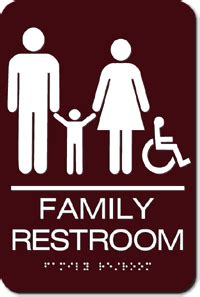 family bathroom sign unisex parent and child wheelchair accessible bathroom ada