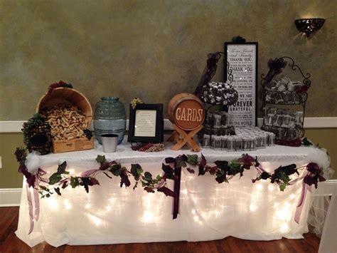 wine theme wedding gift table wedding decor