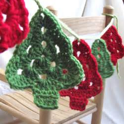 christmas trees crochet garland granny tree by