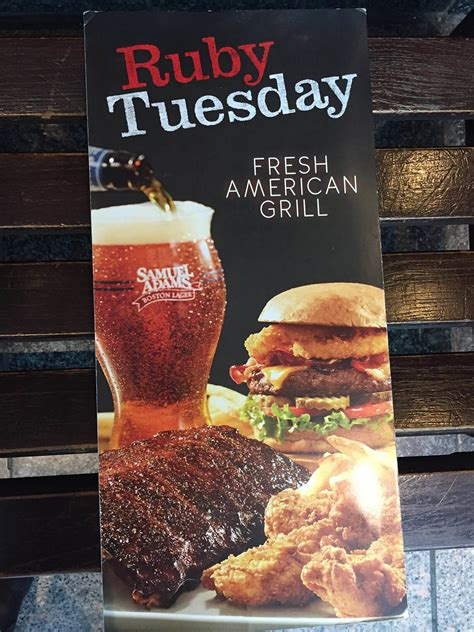 Item Ruby ruby tuesday menu prices 2017 meal items details cost