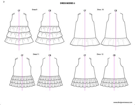 dress sketch template illustrator flat fashion sketch templates my