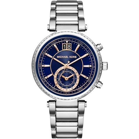 montre michael kors montre sawyer mk6224 montre chronographe analogique femme sur bijourama n