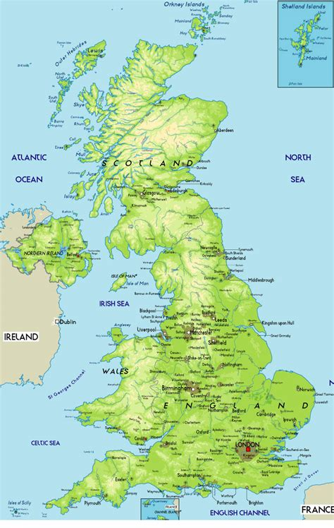 united kingdom map with mountains united kingdom physical map united kingdom mappery