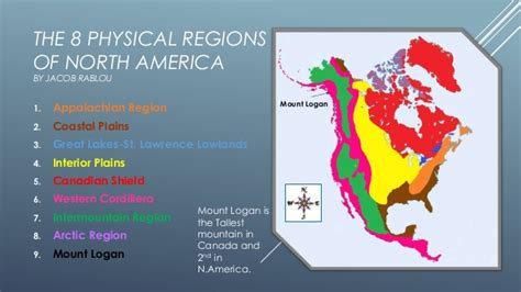 america map geographic regions the 8 physical regions of america