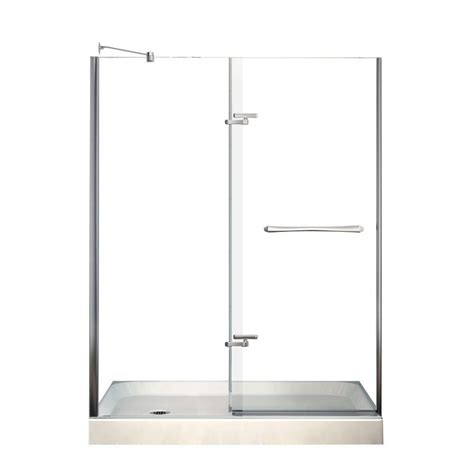 Maax Reveal Shower Door Maax Reveal 32 In X 60 In X 76 1 2 In Shower Stall In White 105974 000 001 101 The Home Depot