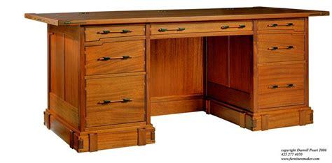 executive desk design plans executive desk blueprints woodworking projects plans
