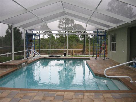 enclosed pools bird cage question pool construction enclosures