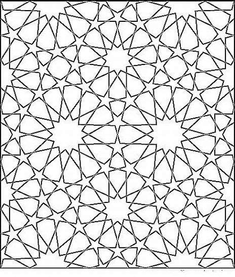islamic pattern color islamic geometric patterns to color coloring page for kids