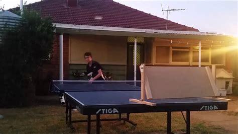 table tennis return board homemade table tennis return board part 1 youtube