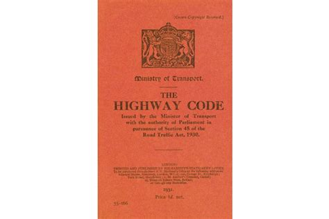 printable version of highway code history of road safety the highway code and the driving