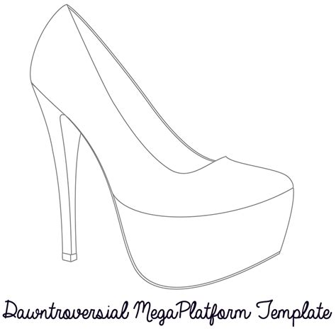 free coloring pages of shoe template