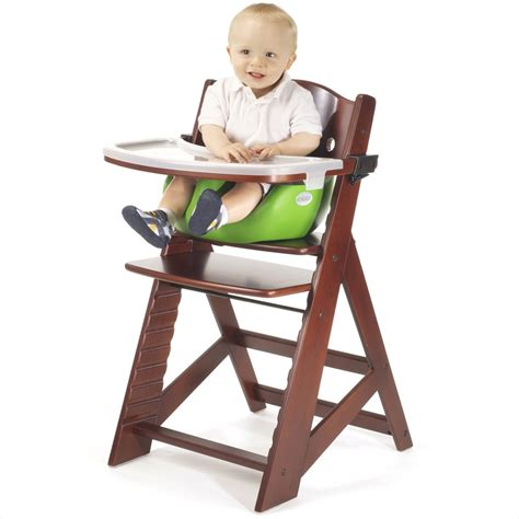 height right high chair with infant insert and tray baby