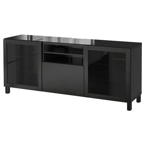 black tv bench best 197 tv bench lappviken sindvik black brown clear glass