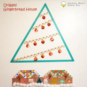 origami gingerbread house and more working s edible