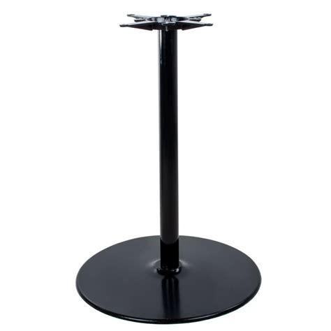 lancaster table seating 17 quot round black metal table base