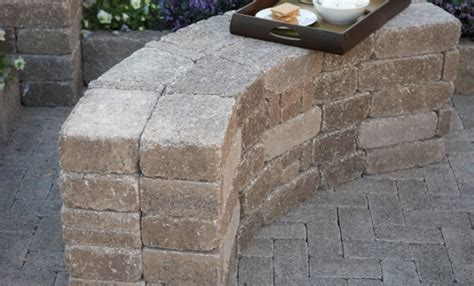 diy stone bench diy rumblestone seat wall and fire pit kit installation
