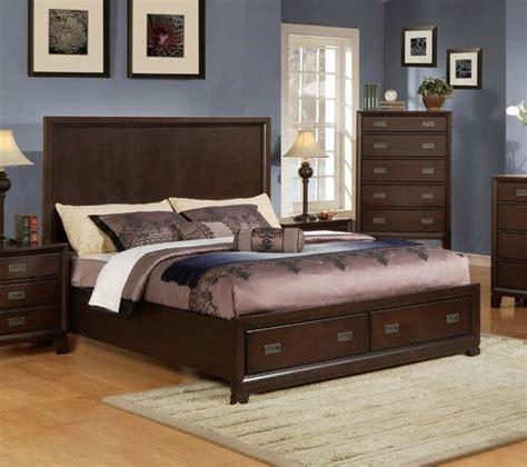 master bedroom furniture king queen size bed pc bedroom set dark cherry color ebay