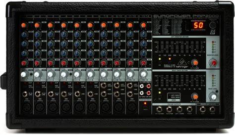 Ready Behringer Pmp 2000 D Powered Power Mixer Audio 2000 Watt behringer europower pmp2000 sweetwater