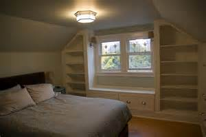 Slanted ceiling bedroom storage want this in our bedroom