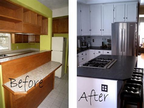 renovating a kitchen home remodeling small kitchen remodel before and after