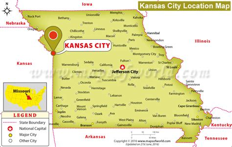 kansas city missouri map usa where is kansas city located in missouri usa