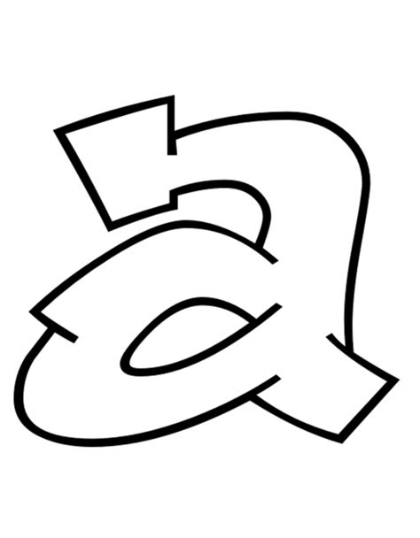 disegnare con le lettere sta disegno di lettera a da colorare
