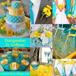 turquoise and yellow turquoise wedding color seven perfect combinations exclusively weddings blog wedding ideas