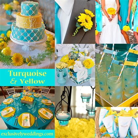 Turquoise And Yellow | turquoise wedding color seven perfect combinations