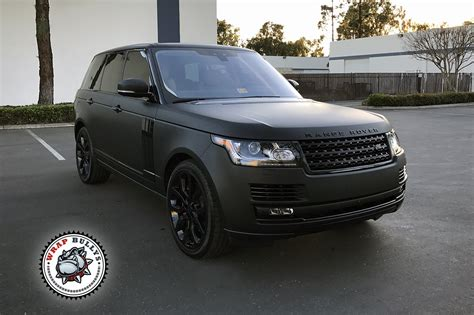 range rover matte black range rover wrapped in 3m matte black wrap bullys