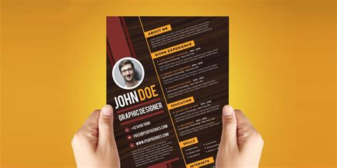 graphic design resume template psd ultimate collection of free resume templates 187 css author