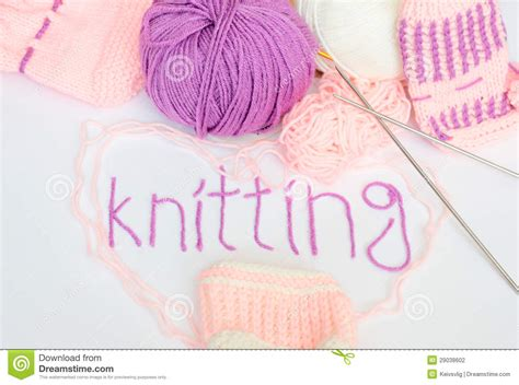 knitting words knitting hobby craft stock photography image 29038602