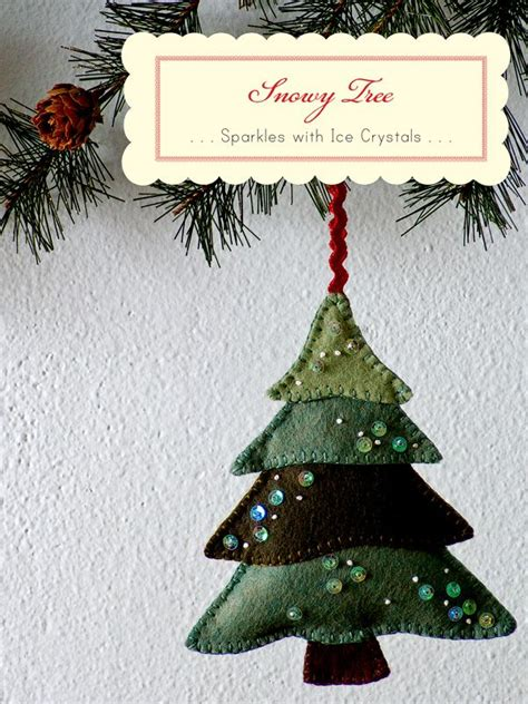 christmas tree ornament felt christmas pinterest