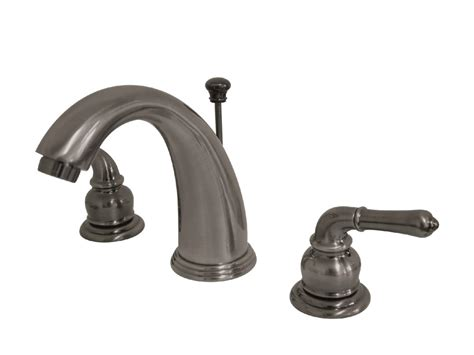 bathroom faucets in black kingston brass kb983 widespread lavatory faucet black stainless kingston brass