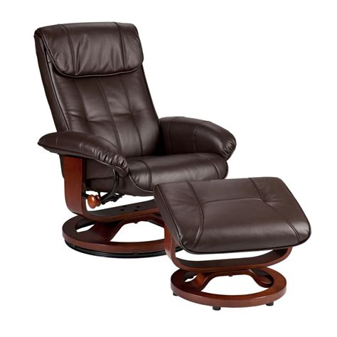 Leather Recliners With Ottoman Sei U Base Donavan Recliner And Ottoman Caf 172 Brown Bonded Leather Kitchen Dining