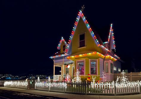 up house christmas lights real up house from the disney
